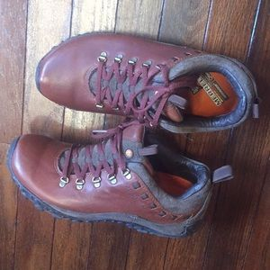 Genuine red leather ortholite vibram Merrell